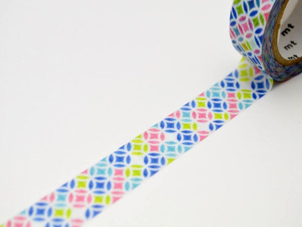 Limited Edition mt Japanese Washi Masking Tape - Traditional Japanese Pattern 15mm