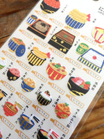 Beautiful Gold Stamping Foil Sheet of Stickers - Traditional Japanese Designs at yout choice
