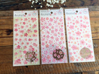 Sheet of Stickers - Japanese Sakura cherry blossom Stickers