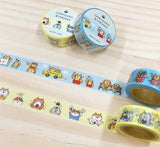 Japanese Washi Masking Tape / 15mm Gorogoro Nyansuke