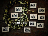 "Garden / Little Path Wooden Rubber Stamp Vol. 3 - ""Camera"" Series"