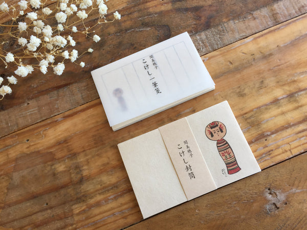 Classiky Kokeshi Doll Mini Letter Ped & Envelopes at your choice