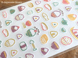 Cute Washi Sheet of Stickers / Seals - Traditional Japanese Designs at your choice