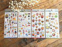 Sheet of Washi Stickers / Adult's picture book Series-Hedgehogs