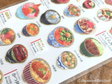 Sheet of Washi Stickers / Adult's picture book Series-Japanese Don