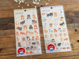Gold Foil Stamped Stickers - Shibainu & Japanese Cat