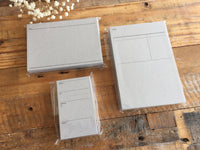 Classiky Letterpress Cards - Receipe Card, Diary card & Address card at your choice