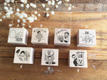 Masco Eri Japanese Wooden Rubber Stamps - Message Stamps
