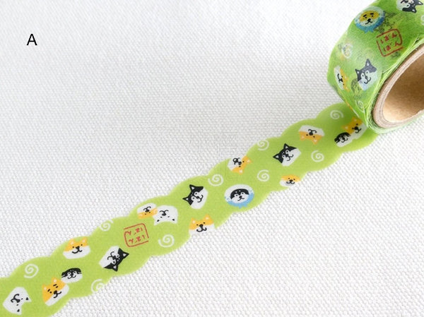 Japanese Die-Cut Washi Masking Tape / 18mm Shibanban Shibainu at your choice
