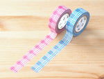 MT 2018 - Japanese Washi Masking Tapes / Check Plaid in Pink or Blue