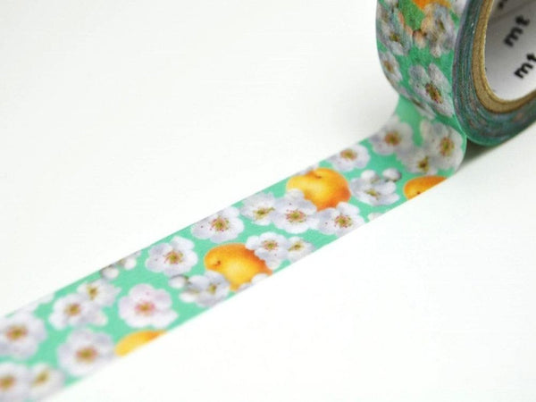 Limited Edition mt Japanese Washi Masking Tape - Pear flowers 15mm