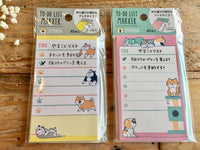 "Sticky Stick it ""To Do List"" / Marker - Shibanban Shibainu and Nyabanban Cat"