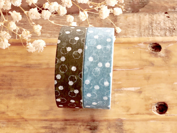 MT 2018 S/S - Japanese Washi Masking Tape / Traditional Japanese Color Series - Snow Rings
