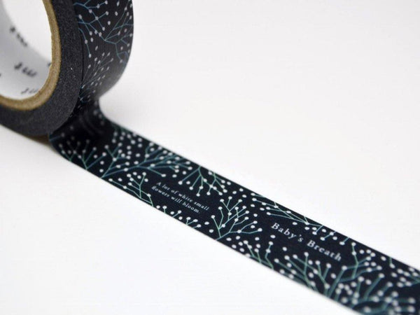Limited Edition mt Japanese Washi Masking Tape - Baby Breath 15mm for packaging, tag making, scrapbooking