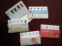 Cute One Point Sticker / Sticky Stick It index tab / Boy and Bear, Sunday Cooking Girl, Gril & Cat