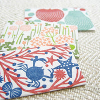 Classiky 20 Beautiful Letterpress Mini Cards in a super cute Matchbox / Sea-lives