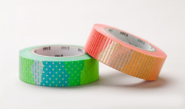 2 Dollar Sale - Discontinued - Japanese Washi Masking Tape / Patch Patterns Orange & Green at your choice