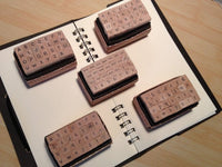 Mini Alphabet Stamp Set - Capital Letter (Garamond) for invitation and card making, scrapbooking