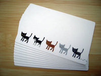 Billy the Cat Mini Gift Message Card / Tag 10 Pieces