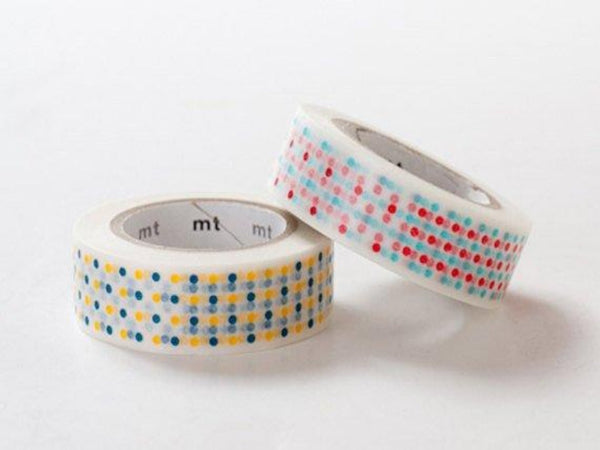 Discontinued - MT 2013 Japanese Washi Masking Tape / Yellow or Red Marble Dots