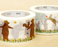 MT ex 2013 Japanese Washi Masking Tape / Rabbits & Squirrels or Bears & Squirrels