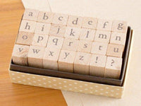 Small but not Mini Japanese Garamond Lower Case Letters Stamp Set