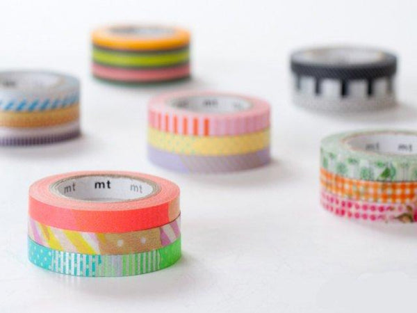 mt 2013 - Japanese Washi Masking Tapes / 6mm Slim Dots & Stripes Tapes