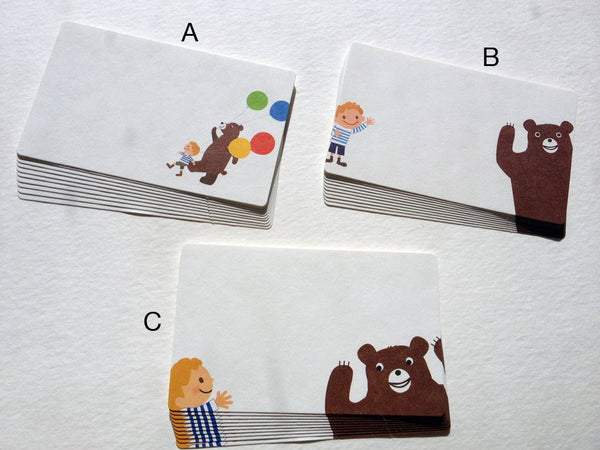 The Bear and The Boy Mini Gift Message Cards / Tags
