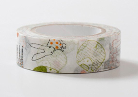 Classiky Japanese Washi Masking Tape - Animals in Blue and Green at your choice