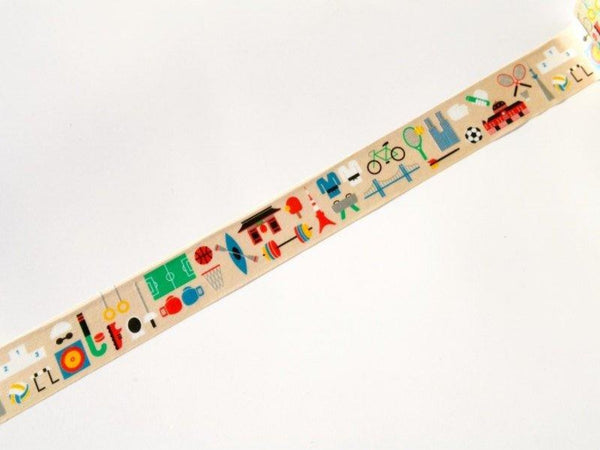 Limited Edition mt Japanese Washi Masking Tape - Sports