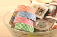 MT 2014 A/W - Japanese Washi Masking Tapes / Colorful Grids at your choice for packaging, party deco, card making