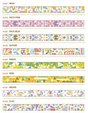On Sale - Material Michemon Japanese Washi Masking Tapes / Colorful Meterial Series