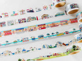 Yano Design Die-Cut Japanese Washi Masking Tape / Trip & Holiday Series