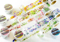 Yano Design Die-Cut Japanese Washi Masking Tapes / Flower Line Series (perforated)