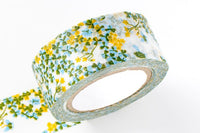 Classiky Japanese Washi Masking Tape - Oxalis in Blue or Green 20mm