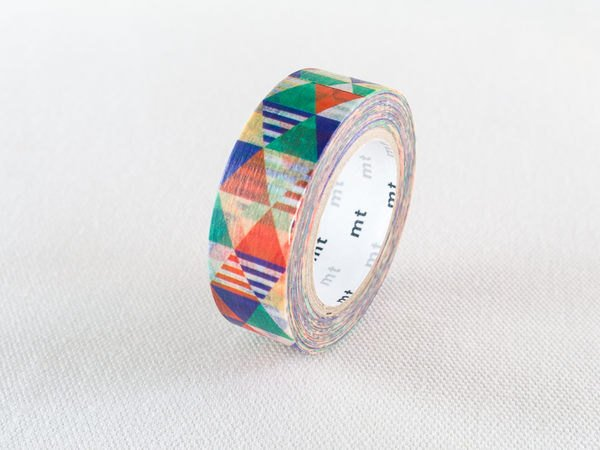 MT 2015 - Japanese Washi Masking Tape / Blue or Pink Colorful Triangles