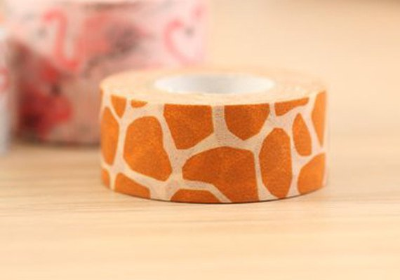 Mark's Japanese Washi Masking Tape - Giraffe Pattern 15mm wide for packaging, party deco, crafting