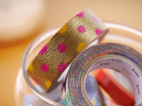 MT 2015 - Japanese Washi Masking Tape / Glitter Silver or Gold for scrapbooking, packaging, party deco, card making