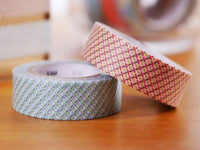 MT 2015 - Japanese Washi Masking Tape / Green or Red Dash lines