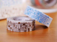 MT 2015 - Japanese Washi Masking Tape / Blur or Brown Lines