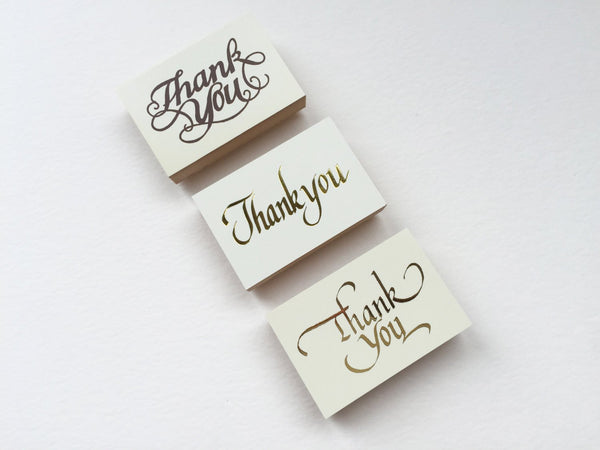 "Pretty Script Japanese ""Thank You "" Wooden Rubber Stamps"