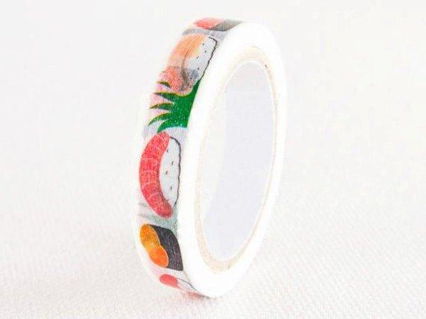 nami nami slim Die-Cut Japanese Washi Masking Tape / 8mm Sushi