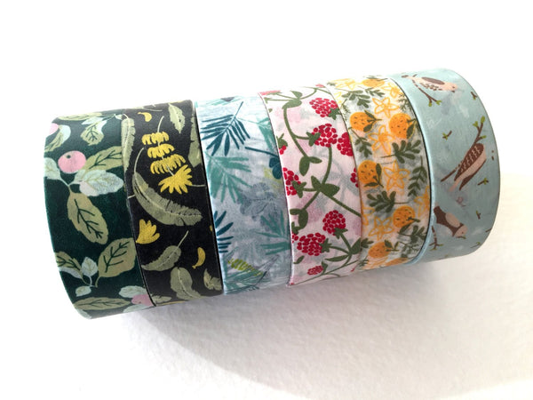 Japanese Washi Masking Tapes - Beautiful 15mm Flower Tapes at you choice