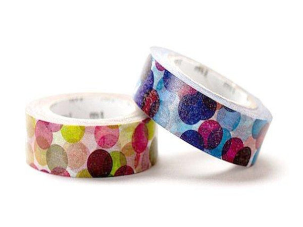 2 DOLLAR SALE-Discontinued - MT 2011 Japanese Washi Masking Tapes / Colorful Spots Blue or Wine