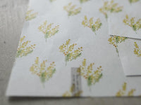 YOHAKU Original Collage A4 Wrapping Paper - Mimosa