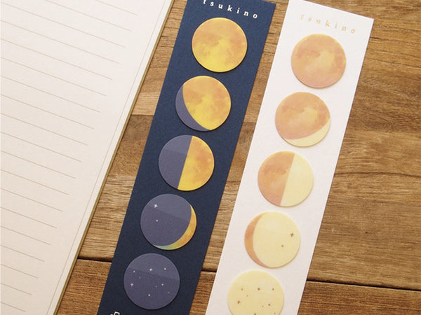 Film-like One Point Sticker / Index / Bookmark / Sticky Memo - Moon