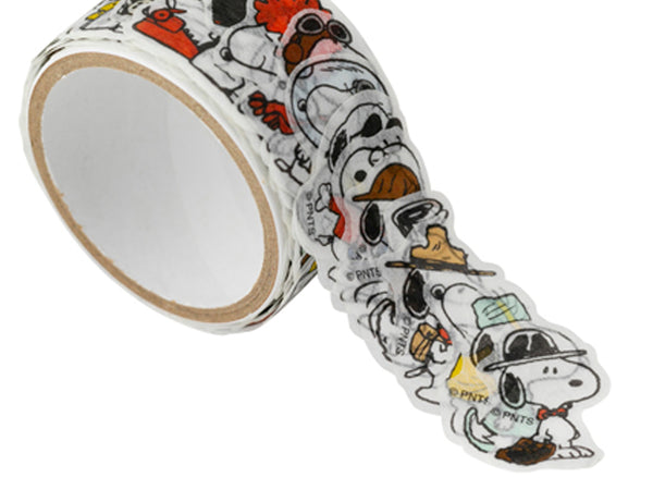 Snoopy Japanese Washi Masking Sticker Roll - Snoopy & His Many faces