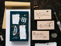 OURS original stamp set / Cursive set A
