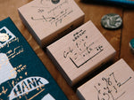 OURS original stamp set / Cursive set B