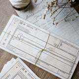 Sunny Sunday - Original Packing Slips / Receipt Paper